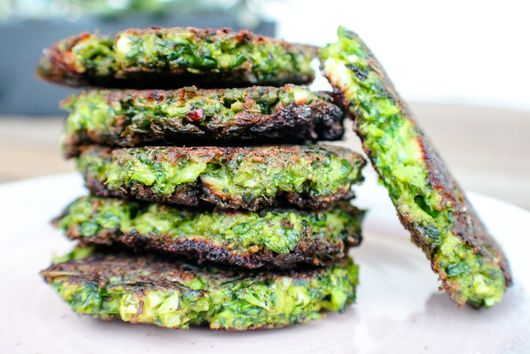 """Quick & Crispy """"Spinoccoli"""" Fritters"""