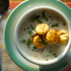 New England Clam Chowder with Old Bay Oyster Crackers