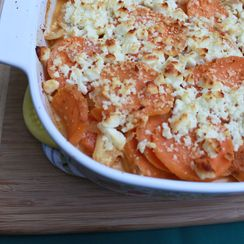 Red Curry Scalloped Sweet Potatoes and Parsnips