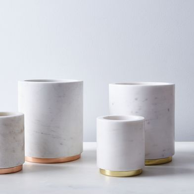 Marble & Metal Canister