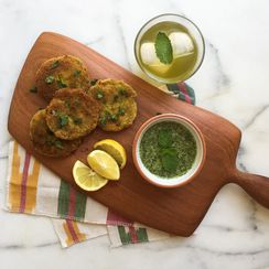 Vegetable Cutlets with Mint Chutney