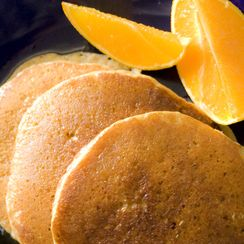 Citrus panCakes with Buttered Honey