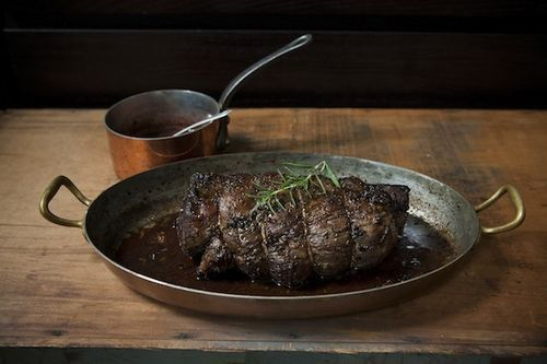 Porcini and Rosemary Crusted Beef Tenderloin with Port Wine Sauce