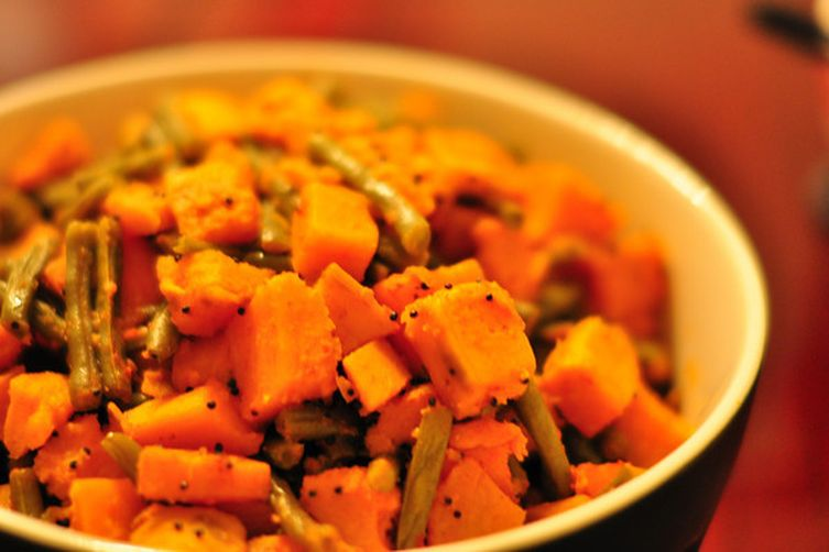 Sweet Potato & Green Bean Sabji