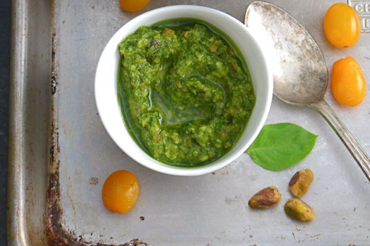 pistachio basil pesto
