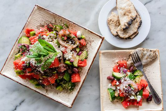 Grilled Red Onion & Watermelon Salad