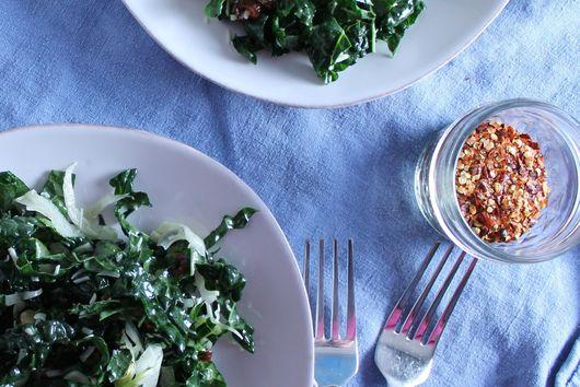 Kale, Celery, + Fennel Salad
