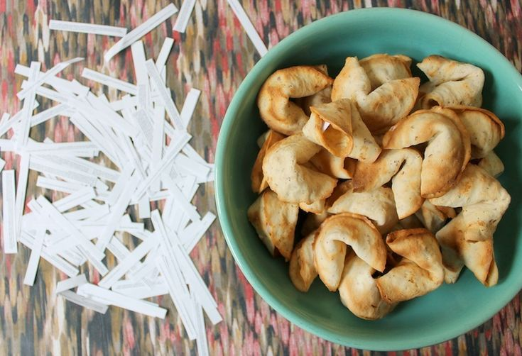 DIY Toasted Almond Fortune Cookies