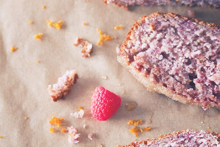 Raspberry Orange Loaf Cake