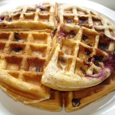 Cherry Almond Waffles