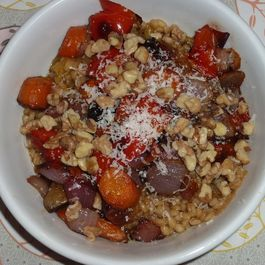Sage Barley with roasted vegetables