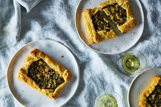 Scallion Crostatas