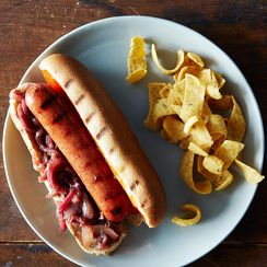 Hot Dogs with Fake Sauerkraut Relish