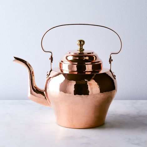 Vintage Copper X-Large French Tea Kettle, Late 19th Century