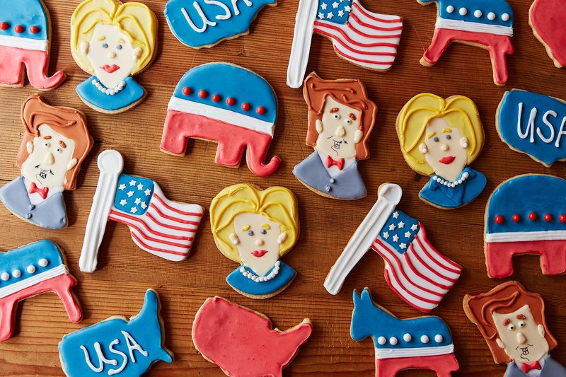 Our new election themed cookies from Ann Clark Cookie Cutter.