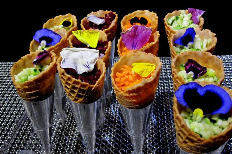 Savory Parfait Cones