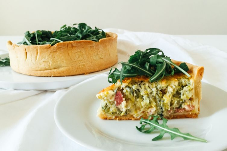 Leek & Bacon Deep Dish Quiche