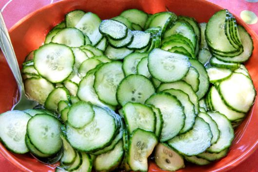 Cucumber Salad with Caper Dressing