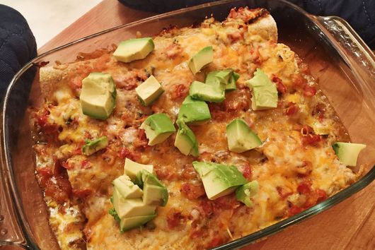 Super Easy Chicken Enchiladas