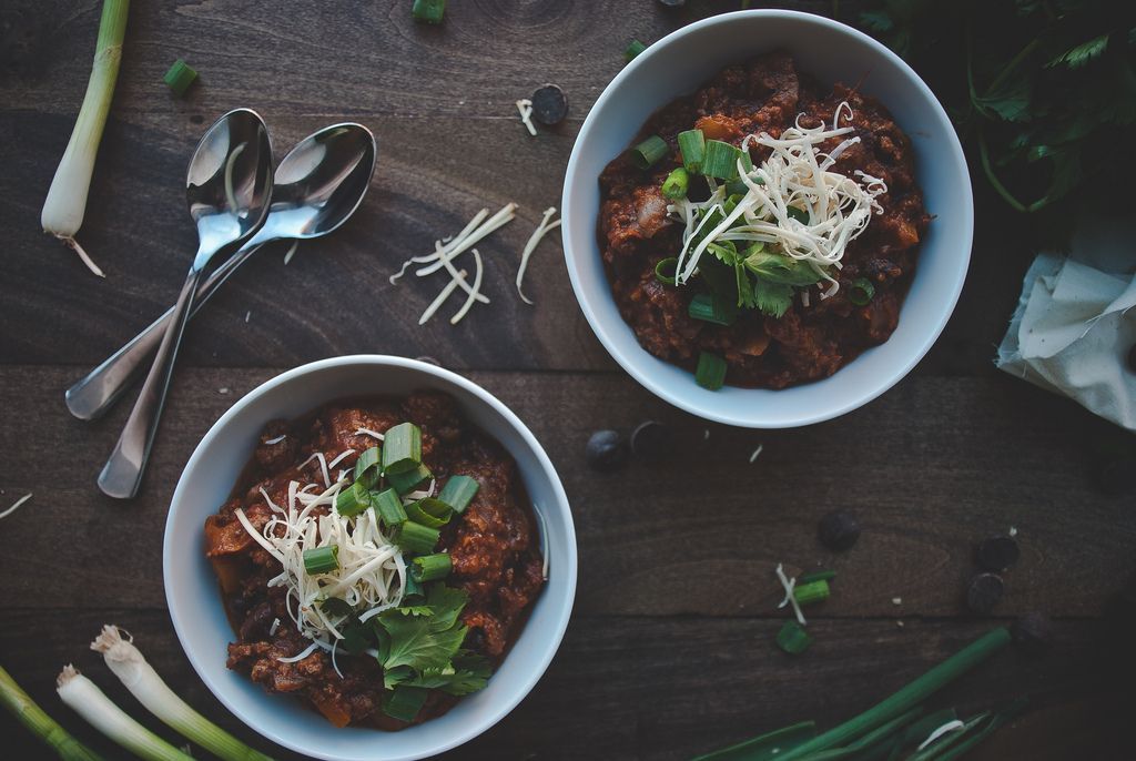 Dark Chocolate Beef Chili