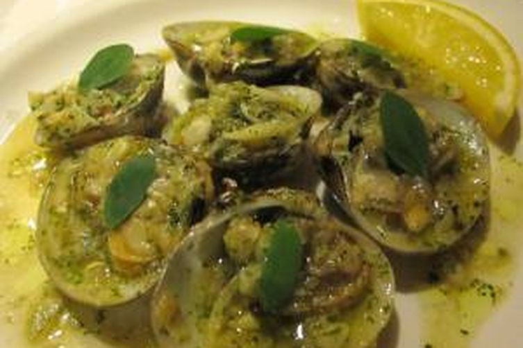 Clams in Moringa Pesto