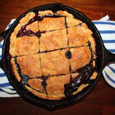 Perfect Peach-Blueberry Pandowdy
