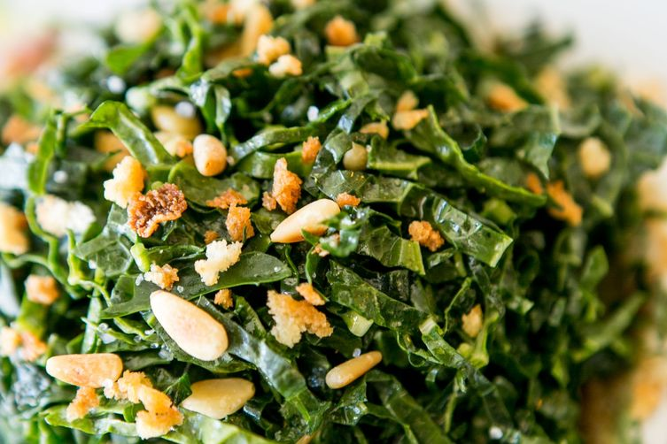 Shredded Kale Salad with Date Puree & Pine Nuts
