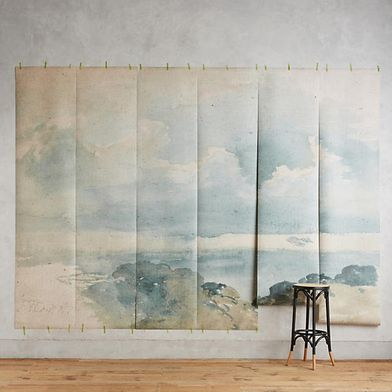 Coastal Cirrus Mural, Anthropologie