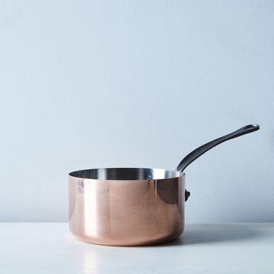 Mauviel M150c2 Copper Sauce Pan and Lid, 1.9QT