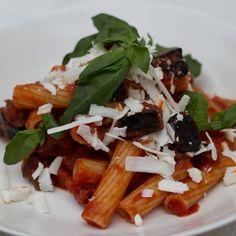 Tomato, Aubergine and Ricotta Salata Pasta (pasta alla norma) - Sicilia, Primo