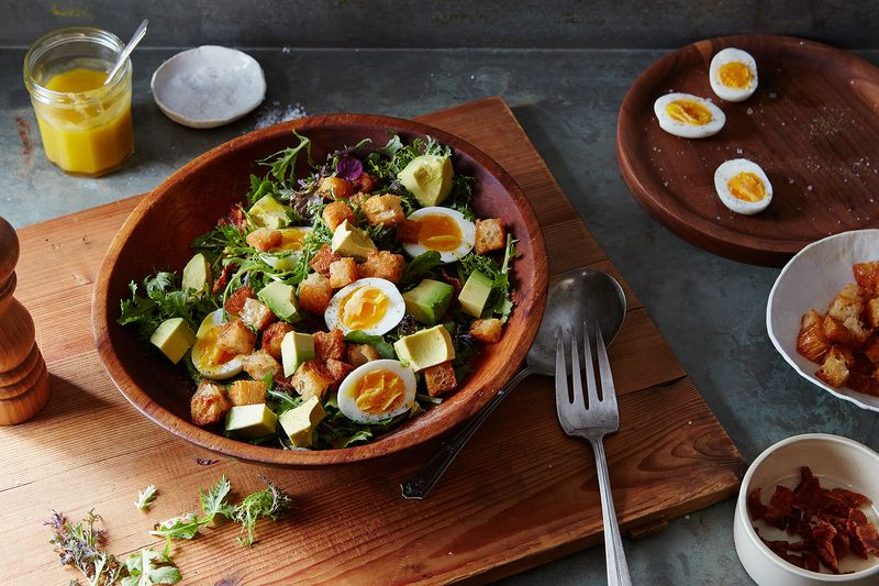 Bacon, Avocado, and Hardboiled Egg Salad