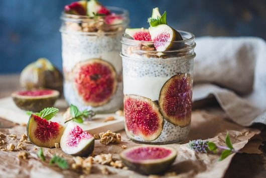 Almond Milk Fig Chia Pudding