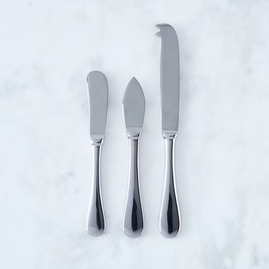 Italian Stainless Steel Cheese Knives (Set of 3)