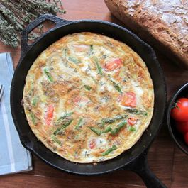 Asparagus Frittata with Thyme and Feta