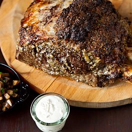 D1a0672d 7907 41cd ac39 9fe7051c50da  roasted prime rib with sauteed mushrooms and mom s creamy horseradish sauce