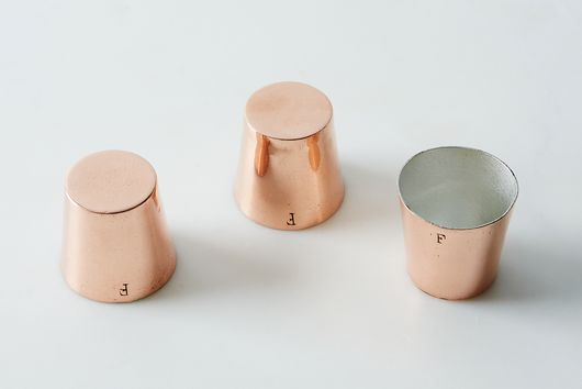 Vintage Copper Pudding Cup Molds, Late 19th Century