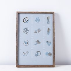 Framed Seasonal Fruit & Vegetable Print