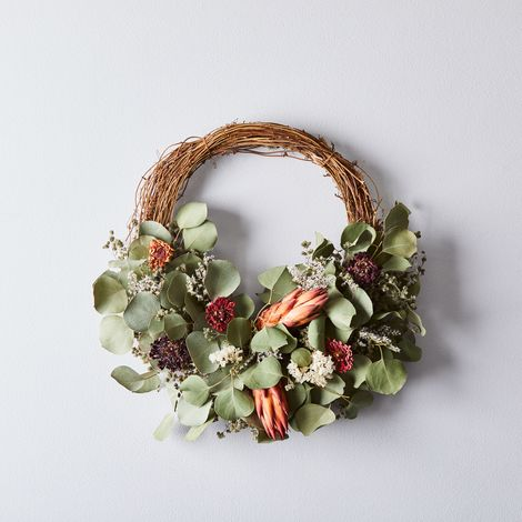 Dried Protea Half Branch Wreath