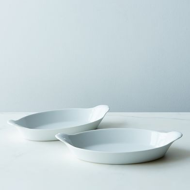 Pillivuyt Oval Eared Roasting Dishes (Set of 2)