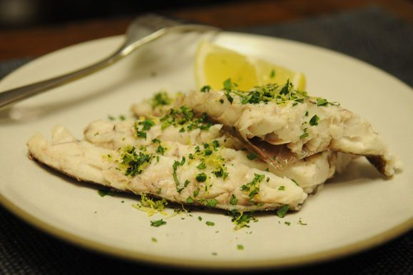 Whole baked Fish with Sea Salt Parsley Gremolata