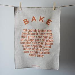 """Bake"" Tea Towel"