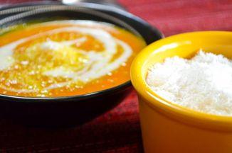 7cd0d6ec 1045 412e a74f 973dd695488f  spicy carrot soup with cre me frai che and coconut 2 of 1