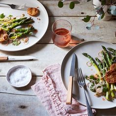 Thai-Inspired Asparagus Salad with Fried Meyer Lemon