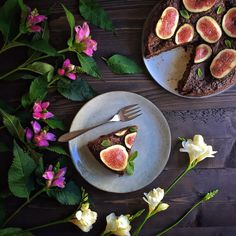 Chocolate, Zucchini & Fig Cake