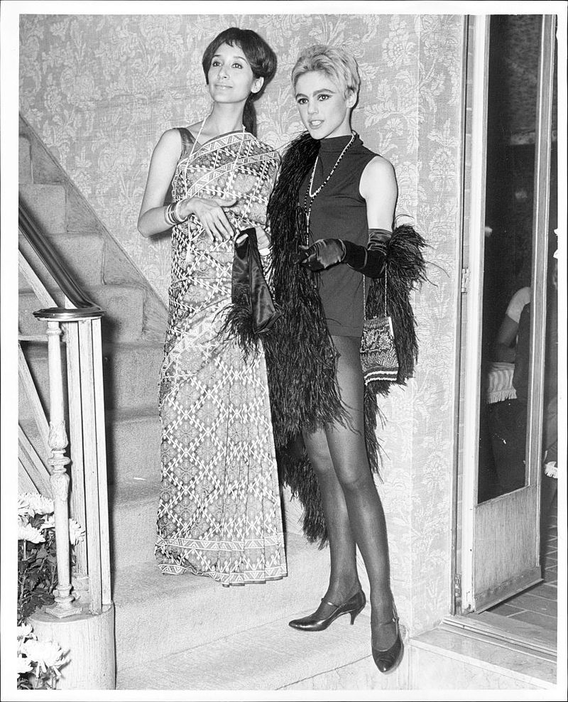 Madhur Jaffrey with Edie Sedgwick at the 3rd New York Film Festival in 1965.