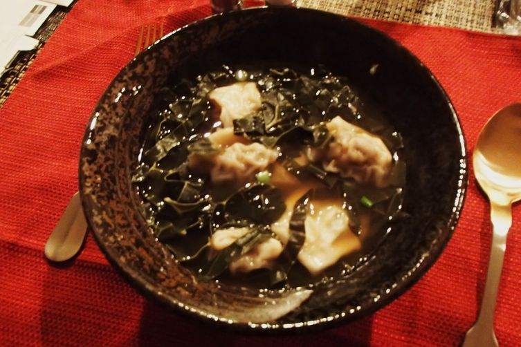 It Quacks Like a Duck Won Ton Soup with Greens