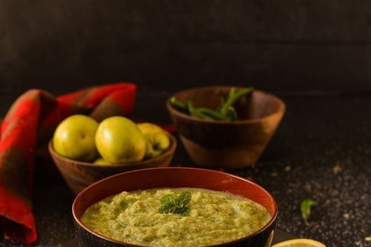Indian Plum and mint dip