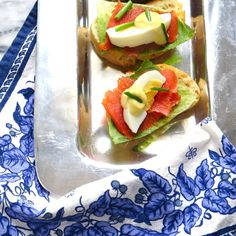salmon caesar crostini