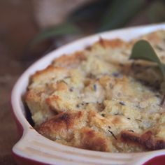Lavender, Honey, and Buttermilk Bread Pudding