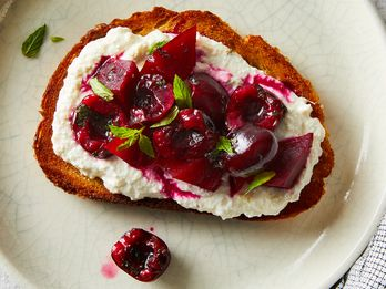 Cherries & Beets Belong Together—Especially on Ricotta Toast